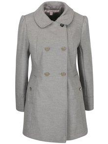 Sivý melírovaný kabát Miss Selfridge Petites