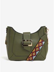 Khaki kabelka s detaily ve zlaté barvě LYDC