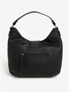 Čierna kabelka so strapcom a detailmi v zlatej farbe LYDC