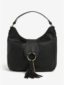Černá kabelka se střapcem detaily ve zlaté barvě LYDC