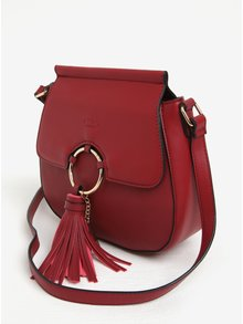 Červená crossbody kabelka so strapcami LYDC