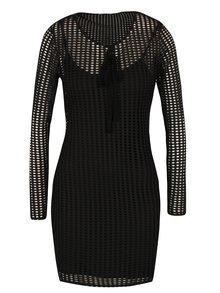 Černé síťované šaty Miss Selfridge