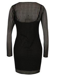Čierne sieťované šaty Miss Selfridge