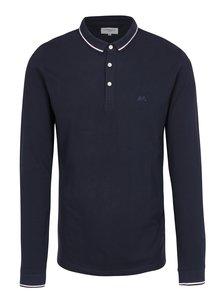 Tmavě modré polo tričko s dlouhým rukávem Lindbergh