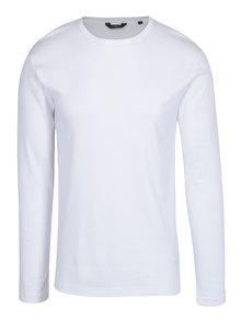 Bílé basic tričko s dlouhým rukávem Lindbergh