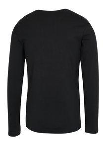 Čierne basic tričko s dlhým rukávom Lindbergh