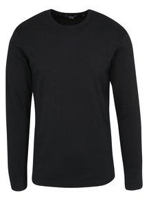 Černé basic tričko s dlouhým rukávem Lindbergh