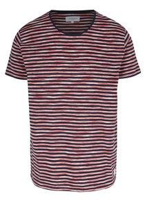 Modro-červené pruhované tričko Lindbergh