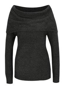 Sivý dámsky sveter s lodičkovým výstrihom Garcia Jeans