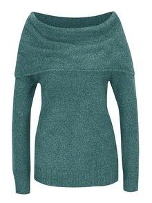 Zelený dámsky sveter s lodičkovým výstrihom Garcia Jeans