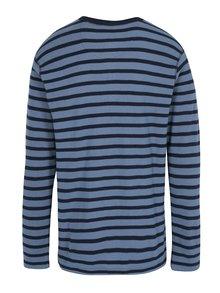 Modré pruhované tričko s dlhým rukávom Lindbergh