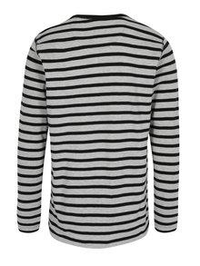 Čierno-sivé pruhované tričko Lindbergh