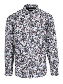Krémovo-sivá vzorovaná košeľa Lindbergh