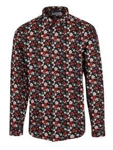 Červeno-černá květovaná košile Lindbergh