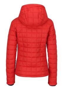 Červená dámská prošívaná bunda s kapucí Superdry Hooded