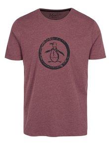 Vínové tričko s potiskem Original Penguin