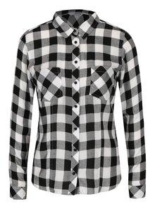 Čierno-biela kockovaná košeľa s vreckami TALLY WEiJL