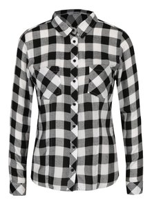 Camasa alb & negru cu model carouri - TALLY WEiJL