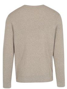 Béžový rebrovaný sveter Original Penguin