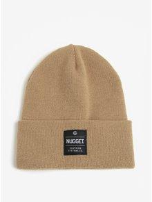 Caciula bej cu aplicatie tip logo pentru barbati - Nugget Bandit