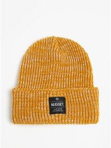 Caciula tricotata galbena cu aplicatie cusuta pentru barbati - Nugget Killer