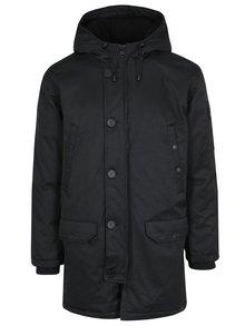 Čierna zimná páperová bunda s kapucňou Lindbergh