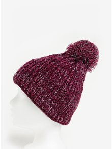 Caciula tricotata bordo cu pompon pentru femei - Nugget Coco