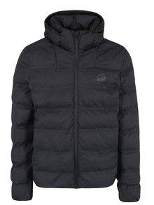 Tmavosivá pánska zimná prešívaná bunda s kapucňou Superdry Echo
