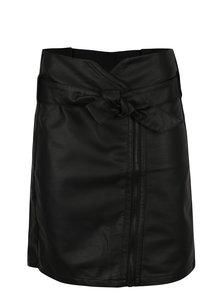 Černá dámská koženková sukně se zipem Garcia Jeans