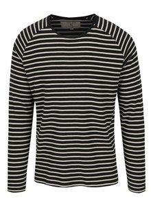 Bluza negru cu crem in dungi pentru barbati Garcia Jeans