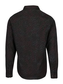 Černá vzorovaná pánská košile Garcia Jeans