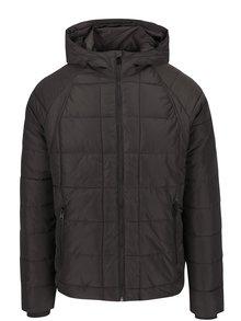 Tmavosivá pánska prešívaná zimná bunda Garcia Jeans