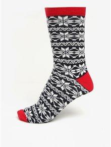 Krémovo-černé vzorované ponožky Shine Original