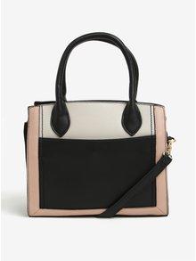 Krémovo–čierna kabelka do ruky Dorothy Perkins