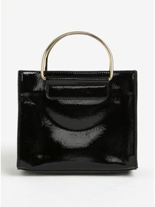 Čierna lesklá kabelka Dorothy Perkins