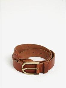 Hnedý dámsky kožený opasok Tommy Hilfiger