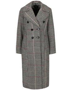Černo-bílý dlouhý vzorovaný kabát Dorothy Perkins