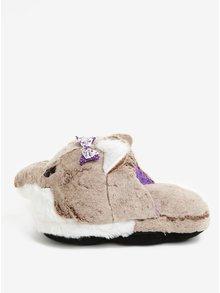 Papuci de casa maro&crem in forma de urs Something Special