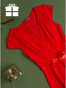 Červené šaty s překládaným výstřihem ZOOT