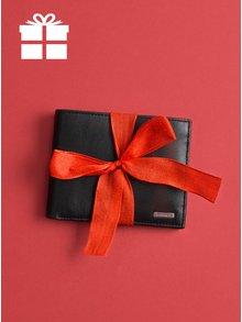 Čierna pánska kožená peňaženka v darčekovej škatuľke Calvin Klein Jeans Rail