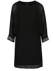 Čierne šaty s ozdobnými detailmi Mela London