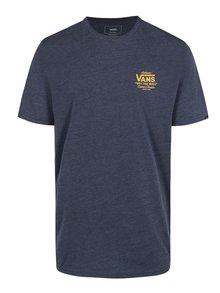 Tmavě modré pánské tričko s potiskem na zádech VANS Holder