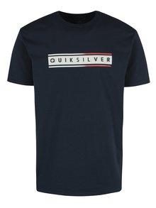 Tmavomodré pánske regular fit tričko s potlačou Quiksilver Classic Daily Surf