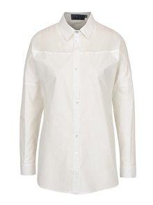 Biela košeľa s priesvitným detailom Pretty Girl