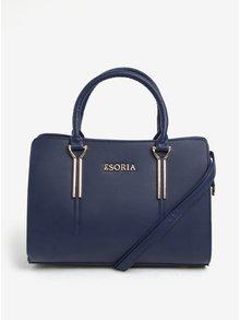 Modrá kabelka s detaily ve zlaté barvě Esoria Cilia