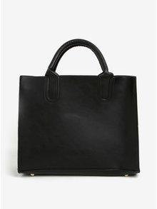 Černá kabelka s detaily ve zlaté barvě Esoria Monda