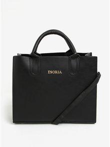Geanta de mana/crossbody neagra din piele sintetica Esoria Monda