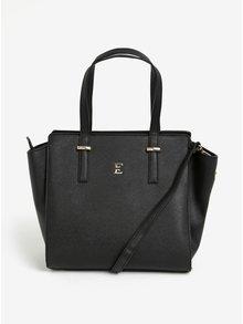 Čierna kabelka s detailmi v zlatej farbe Esoria Mozami