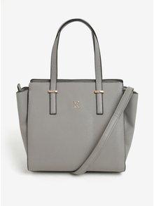 Sivá kabelka s detailmi v zlatej farbe Esoria Mozami