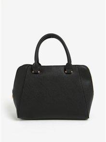 Čierna kabelka so zipsmi v zlatej farbe Esoria Polines